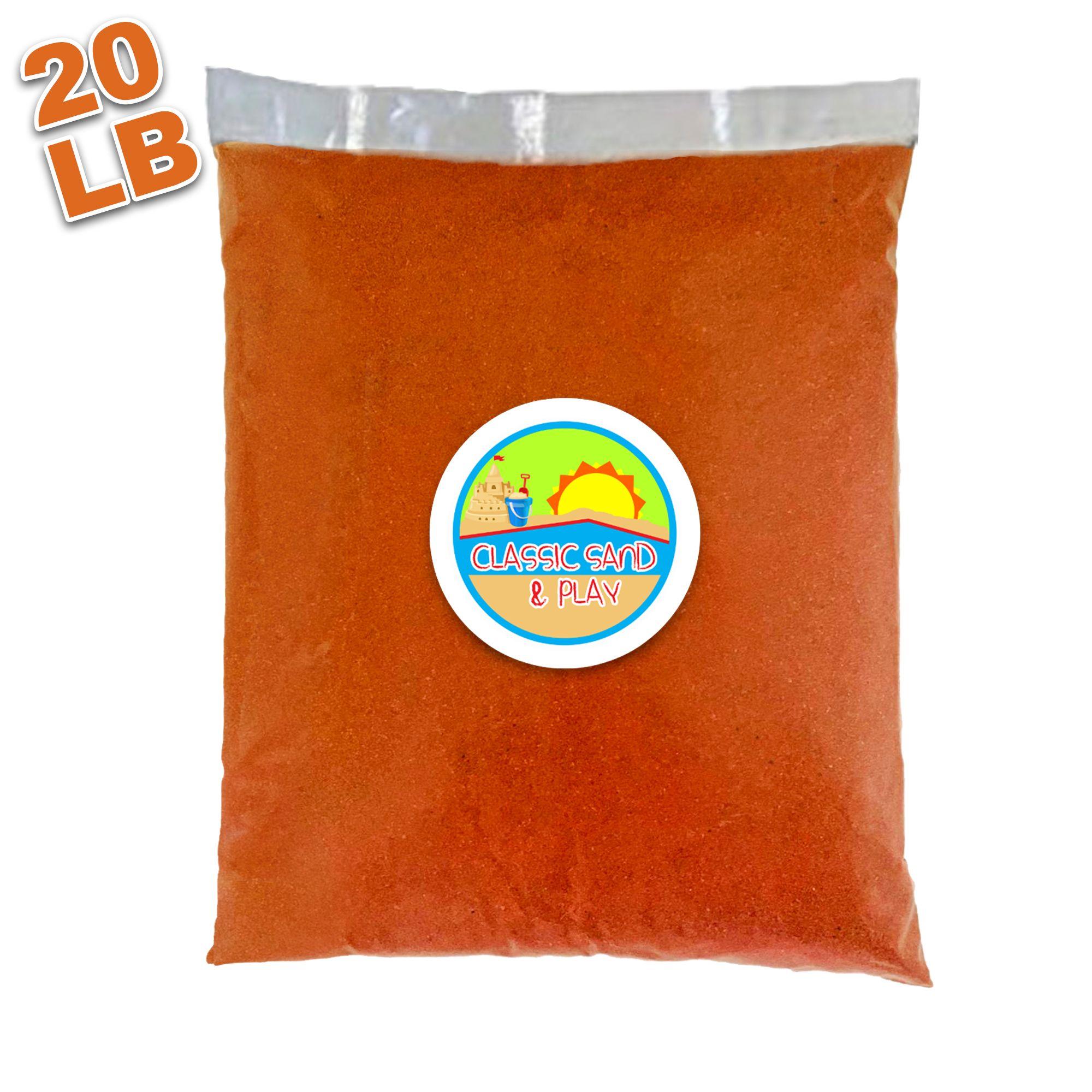 Orange Colored Sand 20 LB - Classic Sand & Play